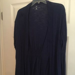 New York and co blue long sleeve top size xl